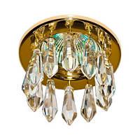 Встраиваемый точечный светильник золото кристальные подвески MR16 DL4160 № 1894