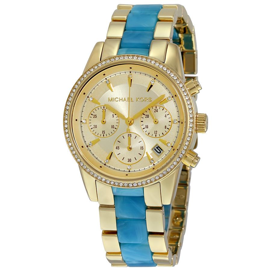 Часы Michael Kors Ritz Gold-tone Chronograph MK6328