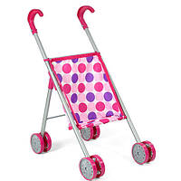 Кукольная коляска металлическая, прогулочная, двойные колеса, в кульке