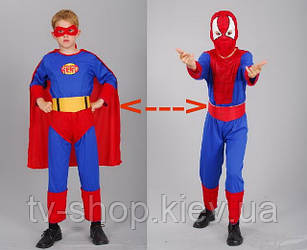 Костюм 2 в 1 Спайдермен-Супермен (130-140 см)