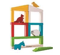 """Деревянная игрушка """"Построй зоопарк"""", PlanToys"""