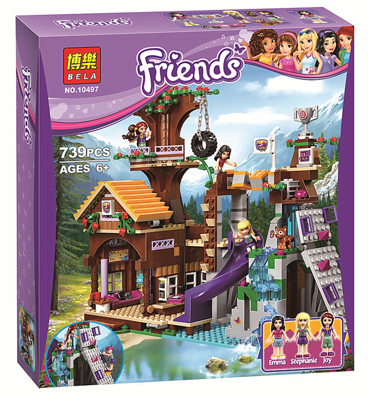 "Конструктор Bela Friends 10497 ""Спортивный лагерь: дом на дереве"" (аналог LEGO Friends 41122), 739 дет​"