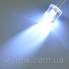 Светодиод d10мм белый прозрачный 15-20cd  MTK2-10W02WC-20cd