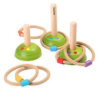 """Деревянная игрушка """"Набор для игры Кольцеброс"""", PlanToys"""