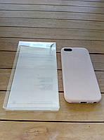 Кожаный чехол-накладка для iPhone 5/5s/SE beige в фирменной упаковке (high copy)