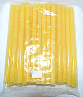 12-00-038. Термоклей диаметр 11мм, длина - 200 мм, желто-матовый, в упаковке 1кг.