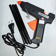 12-0207. Пистолет клеящий ZD-9A под клей 11мм c регулятором температуры, 200W