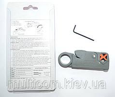12-01-055. Инструмент для зачистки коаксиального кабеля (RG-58; 59; 6; 3C2V), HТ-332