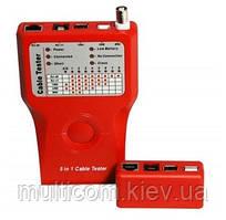 17-06-046. Тестер мультифункциональный 5 IN 1 для RJ-11, RJ-45, BNC, USB, 1394