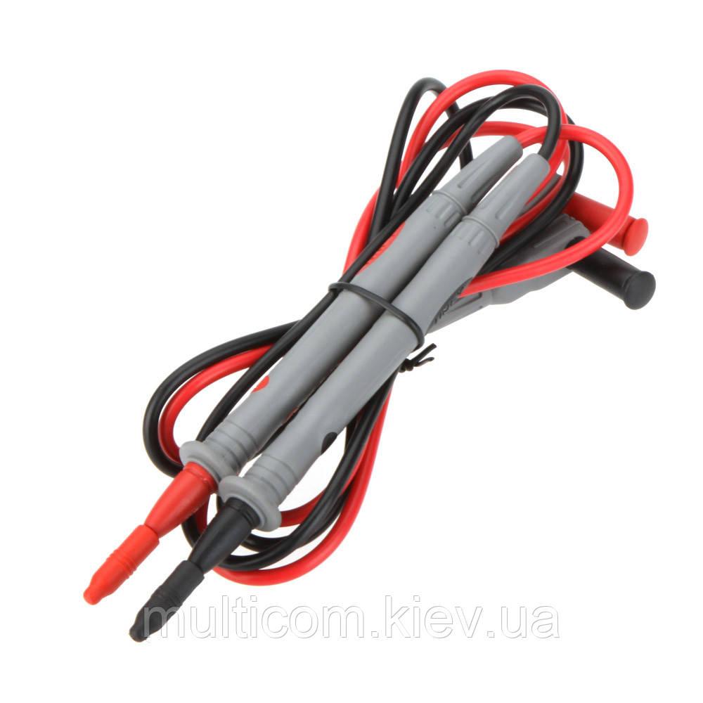 17-00-020. Шнур к тестеру с серыми щупами, 1000V, 20А, красный/черный кабель