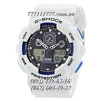 Часы женские наручные Casio G-Shock Ga-100 White-Black