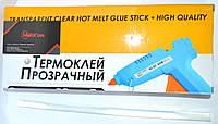 """12-00-239. Термоклей диаметр 11мм, длина - 300 мм, прозрачный, в коробке 1кг, HiQ, """"Tcom"""""""