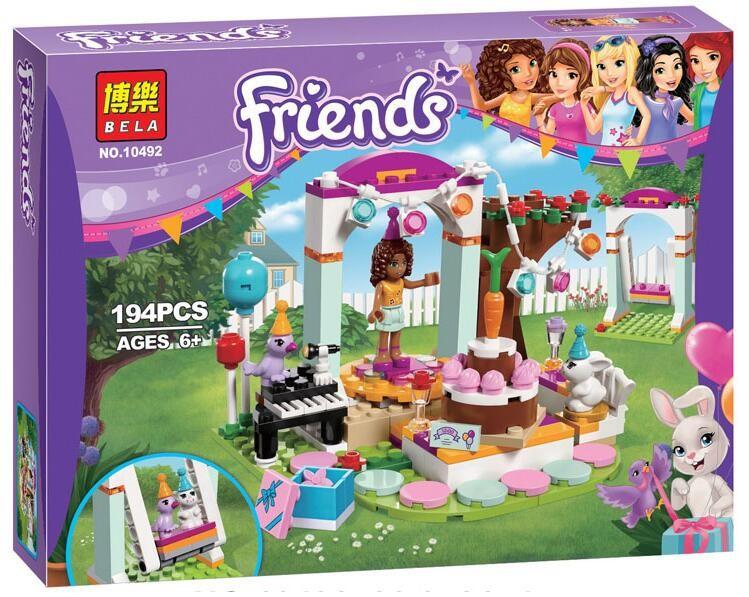 """Конструктор Bela Friends 10492 """"День рождения"""" (реплика LEGO Friends 41110), 194 дет"""