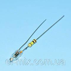 Лампочка неоновая 230VAC (с резистором) d3,8мм оранжевая  NEON-2108  Brightmaster