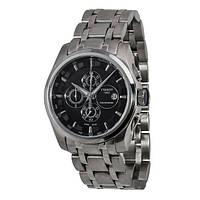 Tissot Couturier steel black silver мужске наручные часы хронограф