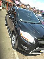 """Боковые пороги, площадка, подножки """"Premium'' Ford Kuga 2008-2013 г.в."""