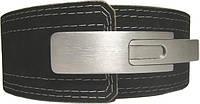 Пояс для пауэрлифтинга с карабином, кожаный 3 слоя, р. S,M,L,XL,XXL OS-0342