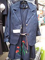 Школьный костюм ( пиджак и сарафан) на девочку