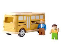 """Деревянная игрушка """"Школьный автобус"""", PlanToys"""