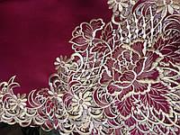 Скатерть атласная с вышивкой  220*150