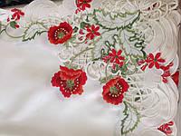 Скатерть атласная с вышивкой 180*140