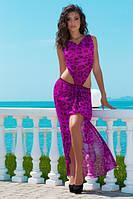 Платье лео с разрезом