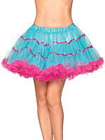 Двухцветная нижняя юбка