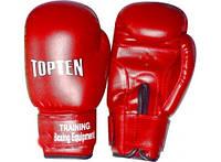 Перчатки боксерские детские PVC TOPTEN PD-485-R (р-р 4-8oz, красный)