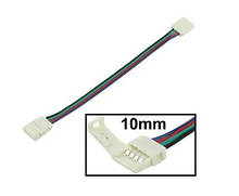 Соединительный кабель с коннектором 10mm  4pin (2 jack) NEW