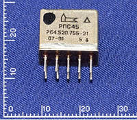 РПС45 РС4.520.755-21 Реле. Напряжение питания обмотки - 12 В.