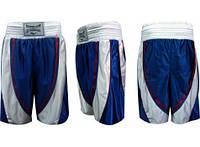 Трусы боксерские ELAST ZB-6140 (PL, р-р M-XL, сине-белый)