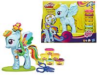 """Play Doh Игровой набор Плей До """"Укрась Пони, Стильная Рэйнбоу Дэш"""" Оригинал из США"""