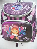 Детский школьный рюкзак Pretty girl сиреневый ранец портфель недорого плотный текстиль оптом 7 км Г1575/2432