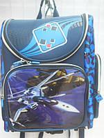 Детский школьный рюкзак для мальчика синий ранец портфель недорого плотный текстиль оптом 7 км Г1575/2437