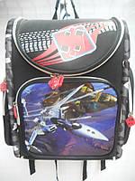 Детский школьный рюкзак для мальчика черный ранец портфель недорого плотный текстиль оптом 7 км Г1575/2436