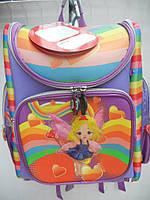 Детский школьный рюкзак сиреневый ранец портфель недорого плотный текстиль оптом 7 км Г1575/2435