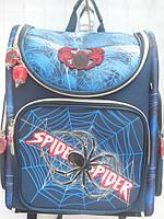 Детский школьный рюкзак для мальчика Spider ранец портфель недорого плотный текстиль оптом 7 км Г1575/2438