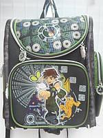 Детский школьный рюкзак для мальчика черный ранец портфель недорого плотный текстиль оптом 7 км Г1575/2441