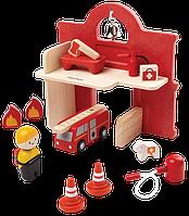 """Деревянная игрушка """"Пожарная часть"""", Plan Toys"""