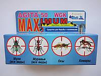 Агита от мух, комаров, блох, муравьев, пауков, клопов, тараканов, ос, дроздофилов, мотыльков, мошек, 30г.