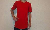 Футболка детская  красная с коротким рукавом 40