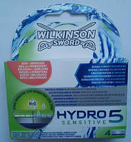 Schick (Wilkinson) HYDRO 5 Sensitive (Шик, Вилкинсон) 4 штуки без упаковки оригинал