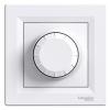 Светорегулятор 40-600Вт поворотный SCHNEIDER Asfora белый (Диммер) EPH6400121