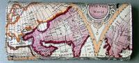"""Портмоне женское """"Бон Вояж"""" с изображением карты мира 01033"""