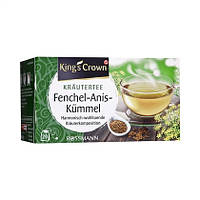 King's Crown  Kräutertee Fenchel-Anis-Kümmel - ТРАВЯНОЙ ЧАЙ из Тмина, аниса и фенхеля, 40 Г, 20 ПАКЕТИКОВ