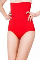 Утягивающие трусики-корсет с завышенной талией, красные