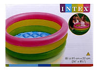 Надувной бассейн intex детский