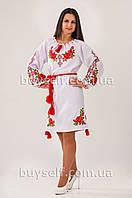 Женское вышитое платье с розами Зоряна