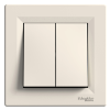 Выключатель 2-клавишный SCHNEIDER Asfora крем EPH0300121