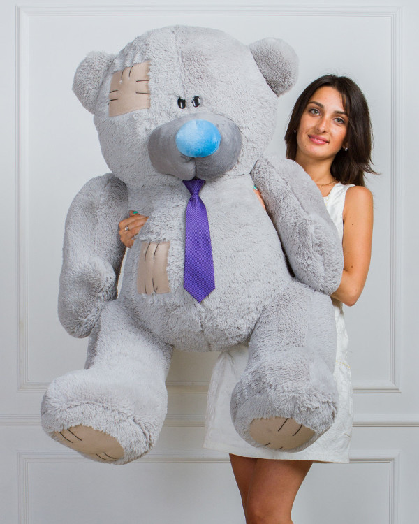 Мишка плюшевый Тедди серый 150 см❤️❤️